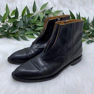 Alberto Fermani Black Point Toe Ankle Boot 37